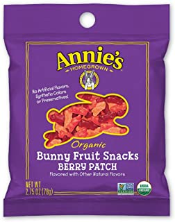Annie's Organic Bunny Fruit Snacks, Berry Patch, 9 Large Pouches, 2.75 oz (Pack of 9)