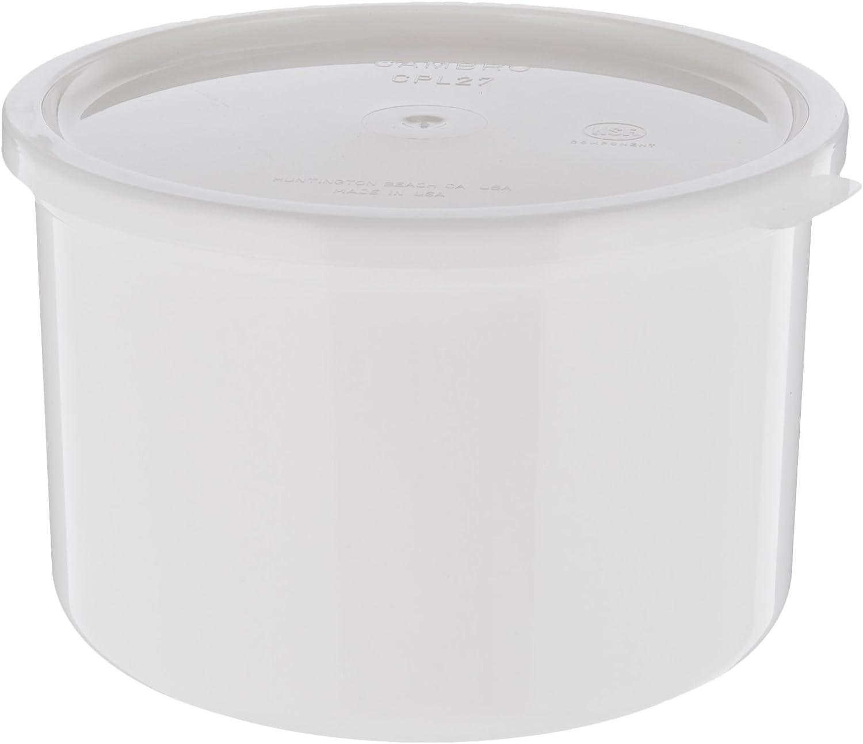 Cambro (CP15148) 1-1/2 qt Solid Color Plastic Crock w/Lid [Case
