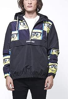 Men's Spongebob Print Half-Zip Windbreaker Jacket