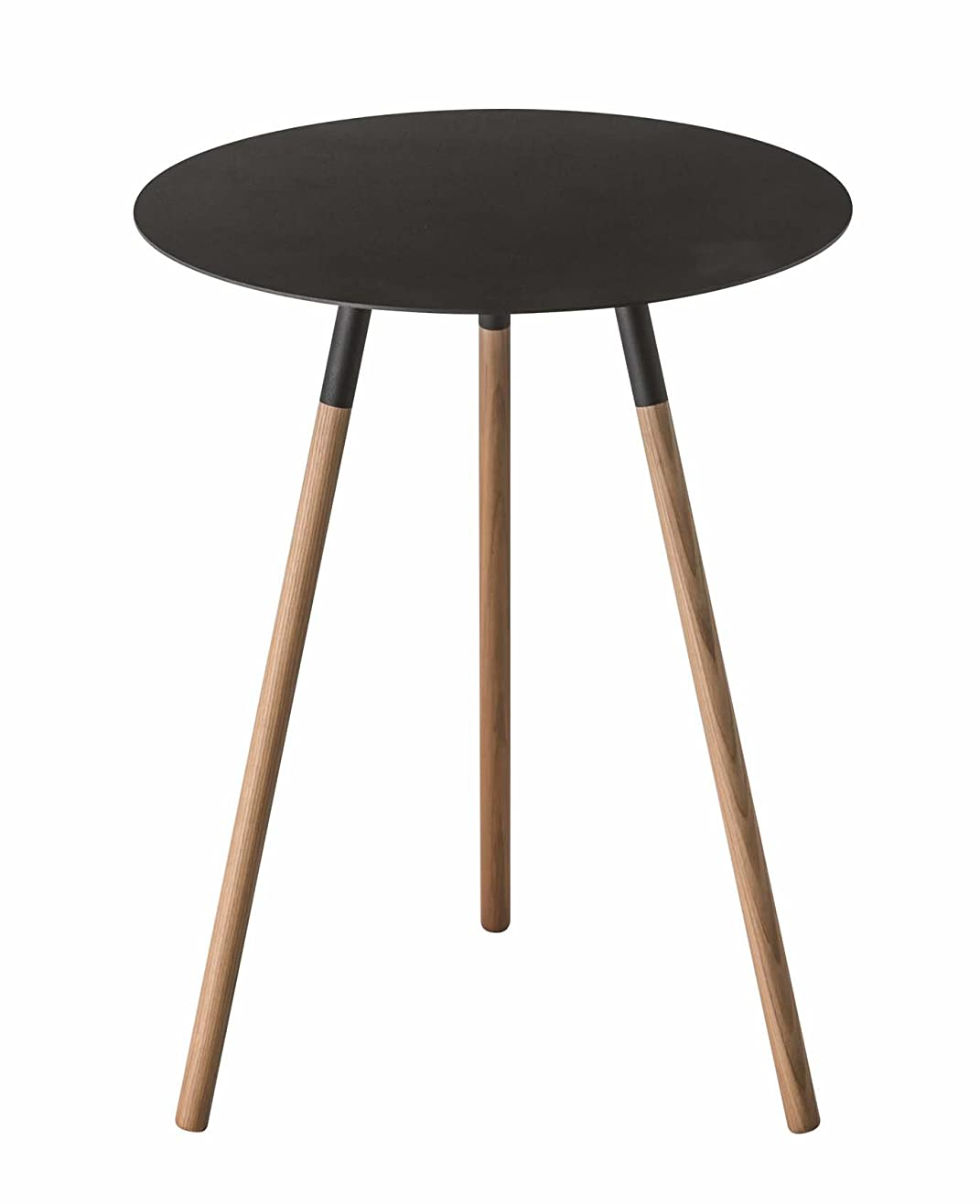 キャップツイントリップ山崎実業 サイドテーブル プレーン ブラック 2342