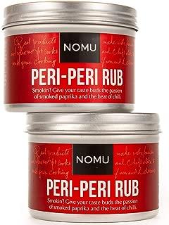 NOMU Peri Peri Seasoning Rub (2-Pack | 4.58oz) - Blend of 13 Premium Herbs, Spices & Chili - Paleo, Vegan, Non-Irradiated, No MSG or Preservatives
