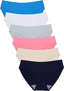 Wealurre Seamless Underwear Invisible Bikini No Show Nylon Spandex Women Panties