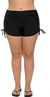 2766edd6abb ATTRACO Womens Plus Size Board Short High Waisted Solid Stretch Boyleg Swim  Shorts