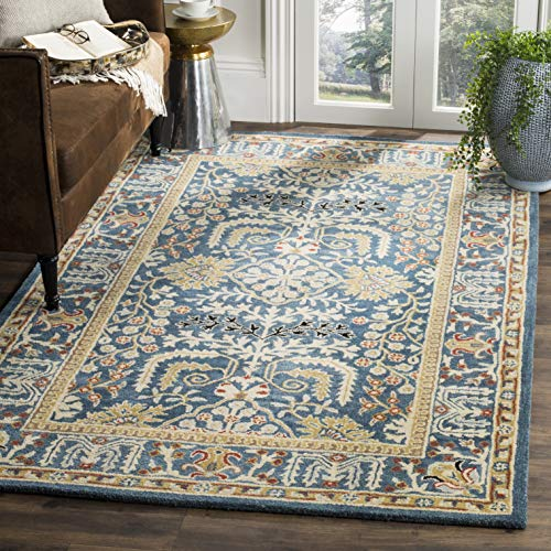 Safavieh Antiquities Collection AT64B Handmade Traditional Dark Blue and Multi Area Rug (8' x 10')