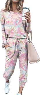 Conjunto Deporte Mujer Manga Larga Pantalon y Camisa Tie Dye