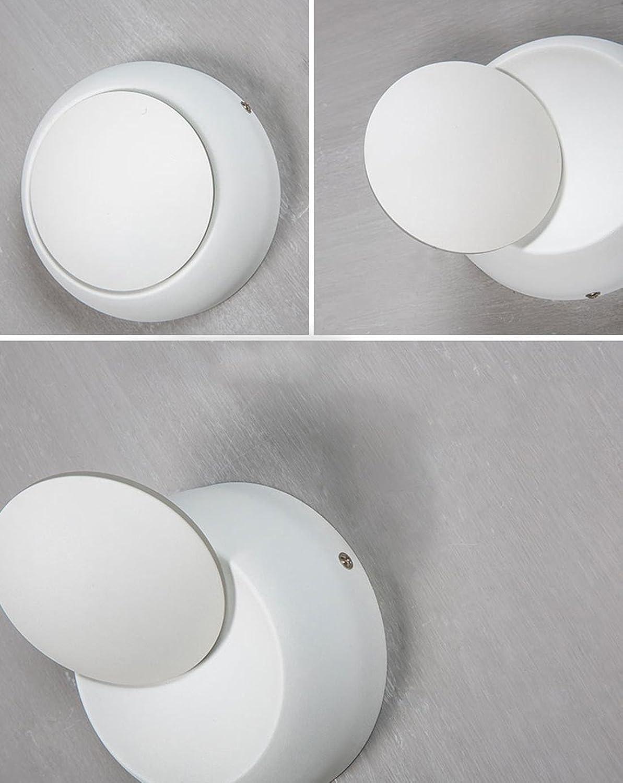 HONGLINordische Einfachheit Schlafzimmer Nachttischlampe LED Kreative Wohnzimmer Restaurant Treppe Gang Runde verstellbare LED Wandleuchte  14  7cm