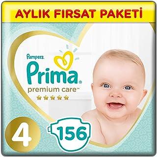 Prima Bebek Bezi Premium Care 4 Beden Maxi Aylık Fırsat Paketi, 156 Adet