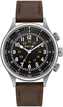 Bulova A-15 Pilot Automatic Leather Men's Watch
