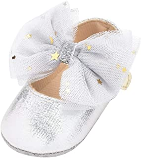 DAY8 Chaussures Bebe Fille 0-12 Mois Cuir PU Automne Chaussure Princesse Bapteme Mariage Ceremonie Fête Chaussure Bebe Fil...