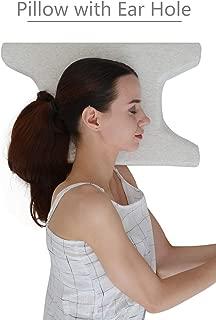 LightEase Contour Side Sleeper Pillow w/Ear Hole for Ear Pain & CNH