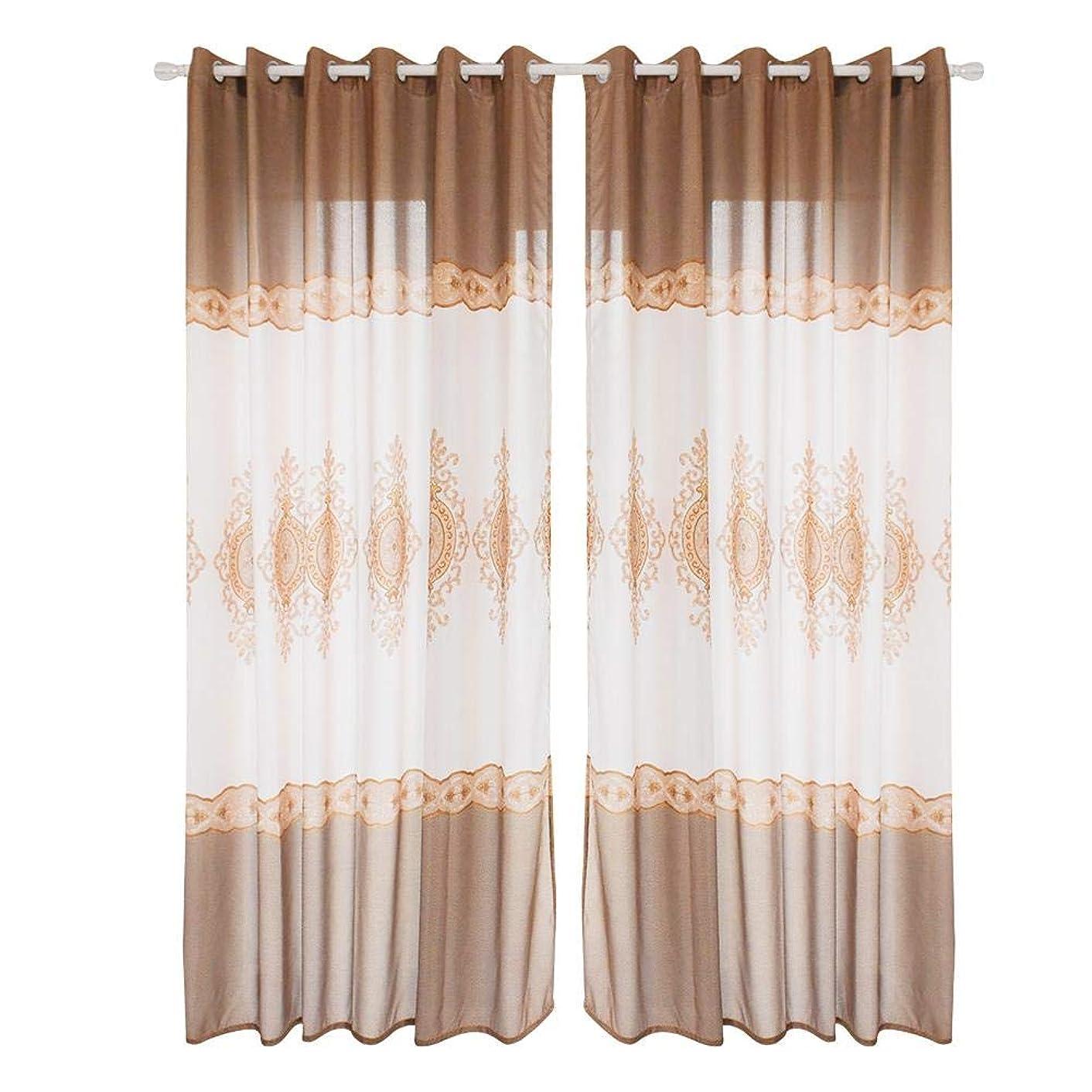 発明するアーネストシャクルトンウェーハ欧米スタイル木目 遮光カーテン ドレープカーテン 断熱 UV カット 薄い 洗える 幅100CMX丈270CM