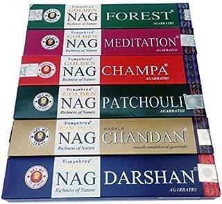 Palitos de incienso Vijayshree Golden Nag Champa, 6 cajas