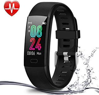 Deyawe Fitness Tracker, Colorful Screen Activity Tracker with Heart Rate Monitor, Waterproof Pedometer Watch,  Sleep Monitor,  Stopwatch, Step Counter for Kids Women Men【2019 Version】