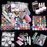 iMeshbean 42 IN 1 Nail Art Set Acrylic Nail Powder Glitter Brush All...