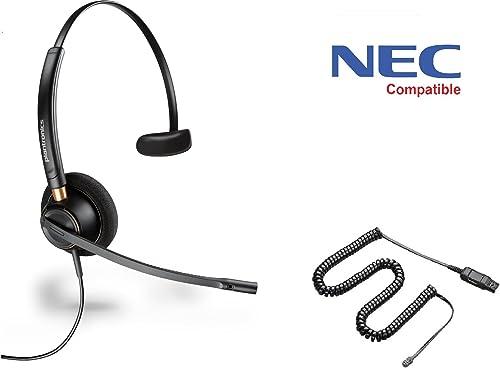 discount NEC Compatible Plantronics HW510 EncorePro 510 Noise Canceling Headset - NEC Elite, Dterm Series i, Dterm IP, Dterm Elite, Series E, DSX, Aspire, NEC i-Series, Dterm Series III, 2021 Univerge, high quality DT300 DT700 outlet sale