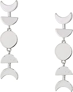 Sterling Silver Lunar Phase Earrings