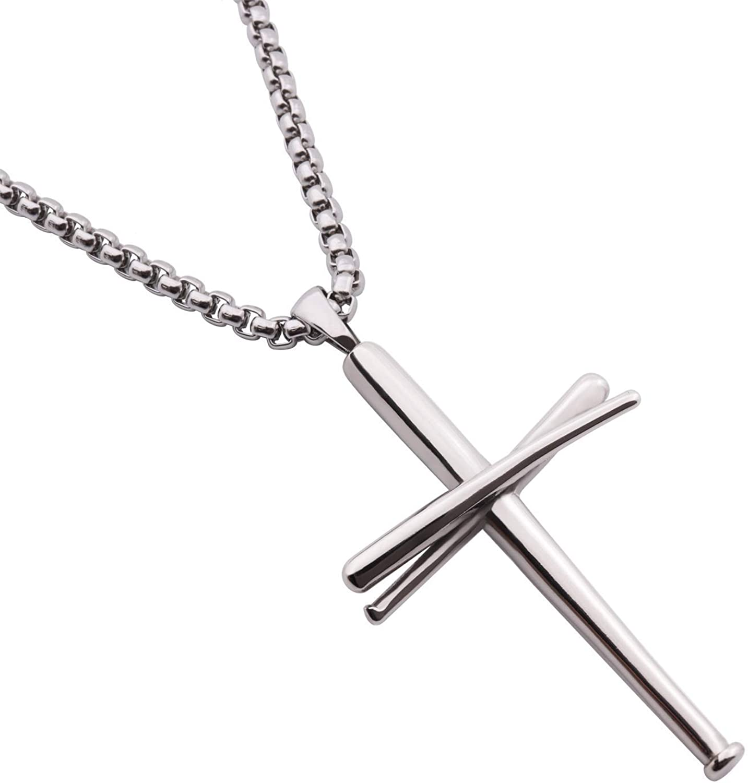 New product! New type RMOYI Cross depot Necklace Baseball Athletes Chain Pendant Bats