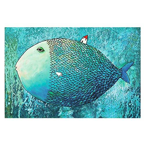 PDVCB Puzzle 1000 Piezas Pescado Grande, Rompecabezas de Anime, Rompecabezas para Adultos y niños, un Proyecto para Usted en Estos días de Auto-Aislamiento, 1000 Piezas Rompecabezas
