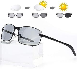 Enafad - Gafas Fotocromaticas con Estructura Metálica-Gafas de Sol Hombre Polarizadas Protección 100% UVA/UVB