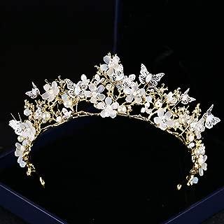 Yogasada Flor de Mariposa Cristal Corona Tocado Corona barroca Accesorios de Boda