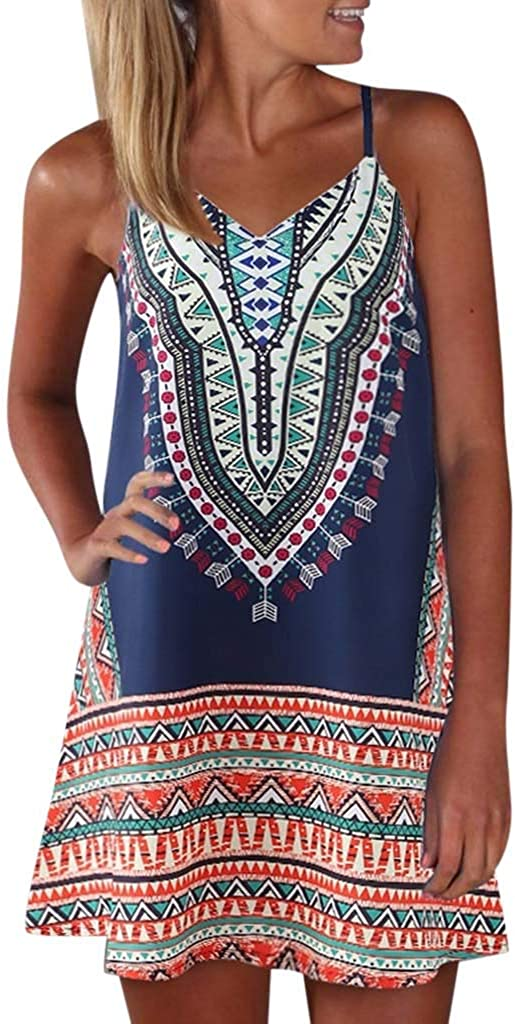 TOTOD Tank Dress Don't miss the campaign for Womens New Alternative dealer Vintage Print Summer Bloc Color