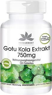 Gotu Kola 750mg – Extracto altamente dosificado – Con zinc y vitamina C – Vegano – 120 comprimidos