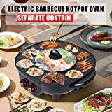 Multifunctional BBQ hot Pot, Tabletop Grill and Fondue Korean Barbecue Hot Pot Double