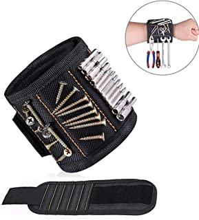 Magnetic Wristband with Strong Magnets for Holding Screws, Nails, Drill, Bits, Birthday Gift for Men, Women, DIY Handyman,...