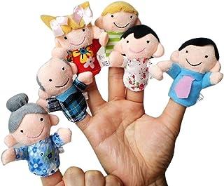 6 pcs Family Set of Finger Puppets -Cute Plush Animal Finger Puppets Set,Set of Finger Puppets,Hand Finger Plush Puppets G...