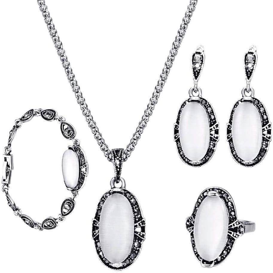 discountstore145 Women's Pendants Faux Bombing new work specialty shop Clavicl Oval Opal Pendant
