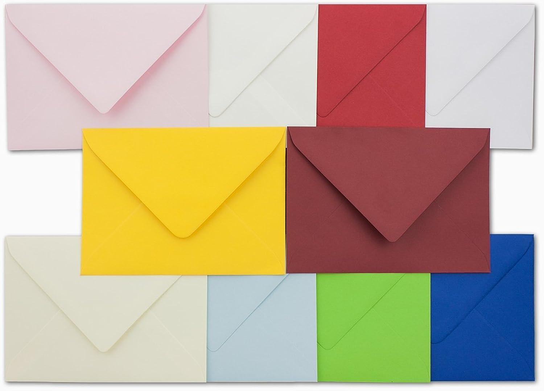 200x Umschlagpaket I Din C6 I ca 114 x 162 mm I die Bunten I 10 Farben je 20 Umschläge I 120 g m² I Naßklebung I Serie FarbenFroh B07G12L9LD | Elegantes Aussehen