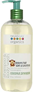 Nature's Baby Organics Shampoo & Body Wash, Coconut Pineapple, 16 oz - Made with Organic Ingredients, Cruelty Free, Hyporallergenic, No Parabens or Glutens