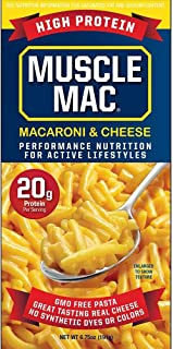 Sponsored Ad - Muscle Mac, High Protein Macaroni & Cheese 20g Protein Per Serving, Original Yellow Cheddar, Non-GMO, 6.75 ...