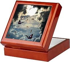 CafePress Pennies from Heaven Keepsake Box, Finished Hardwood Jewelry Box, Velvet Lined Memento Box