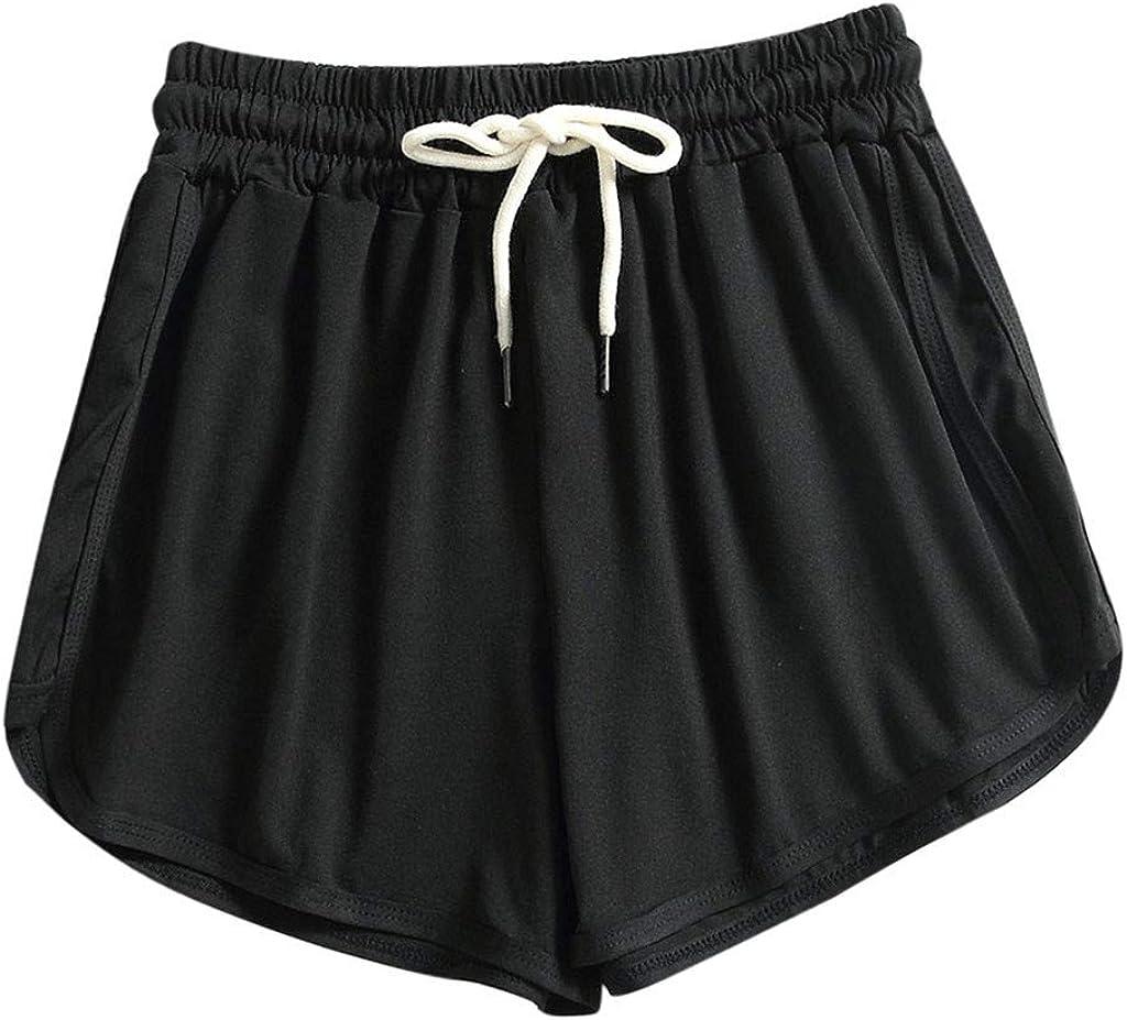 FengGa Womens Running Shorts Sports Shorts Yoga Short Pants Summer Lounge Gym Comfy Athletic Activewear Shorts
