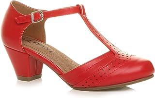 Femmes Talon Moyen salomé découper Chaussures Richelieu Escarpins Pointure