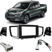 Compatible with Honda Ridgeline 2017-2019 Double DIN Stereo Harness Radio Install Dash Kit New