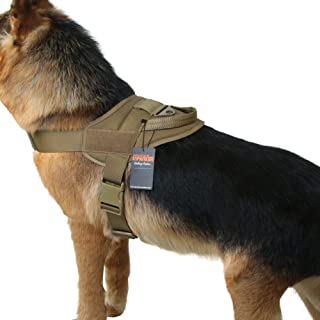 EXCELLENT ELITE SPANKER Tactical Dog Vest Training Military Patrol K9 Service Dog Harness Adjustable Nylon Dog Harness with Handle