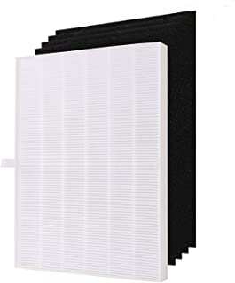 Filter with 4 Activated Carbon Pre Filters Compare to 115115 Size 21 Filter A Compatible with Winix Air Purifier P300, 530...