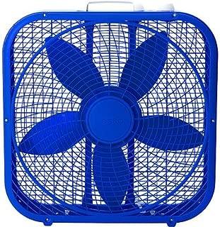 Be Cool with Lasko Cool Colors 20 Box Fan, Royal Blue by Lasko