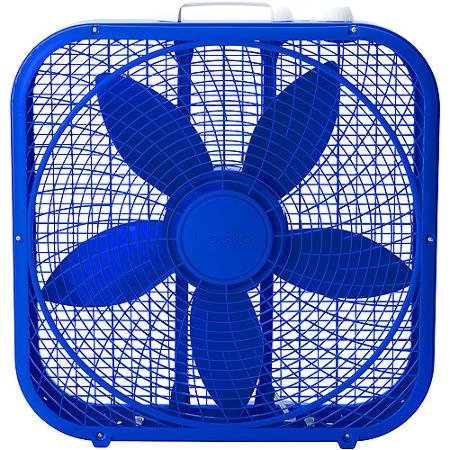 Be Cool with Lasko Cool Colors 20 Box Fan, Royal Blue by Lasko