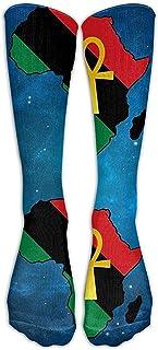 ulxjll, Medias De Compresión Ankh African Coloured Africa Crew Niñas Niños Medias Divertidas Y Transpirables Rodilla Calcetines Largos Personalizados Viaje 50Cm