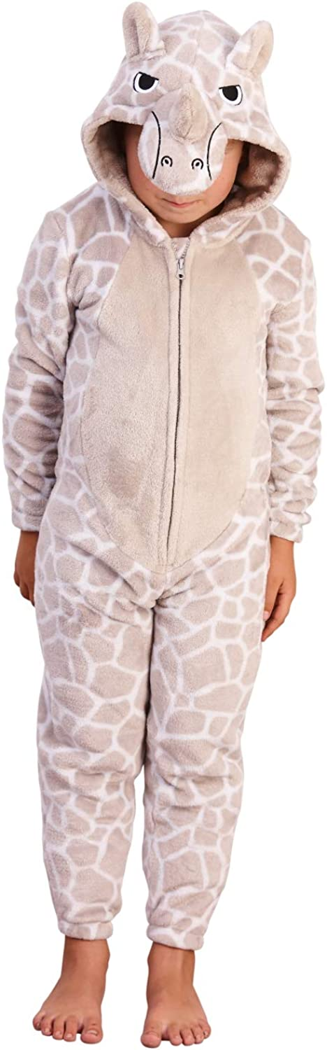 Strong Souls Boys Girls Onesies Kids Novelty All in One Dress Up Costume Hooded Fleece Pyjamas Pjs Sleepsuit