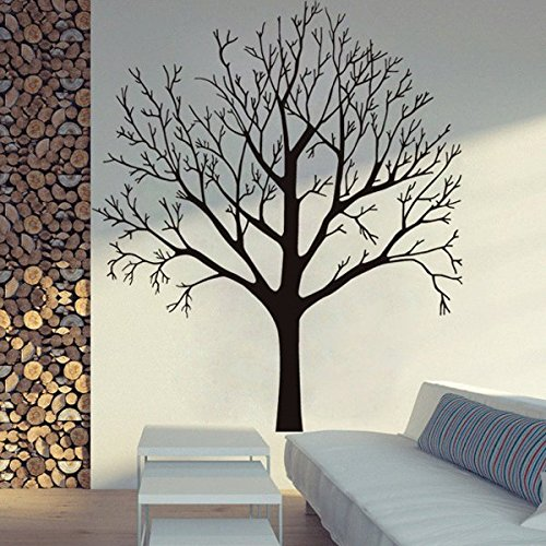 BestPricedDecals Bare Tree ~ Small, Med, or Large Wall Decal (Lrg: 35' x 40')