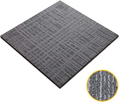 20x 20 Carpet tiles Lxn Platzieren und kleben Sie Teppichfliesenquadrate aus Polypropylen rutschfeste Bitumenunterlage und abwaschbare Bodenfliesen f/ür Gewerbe//Haushalt