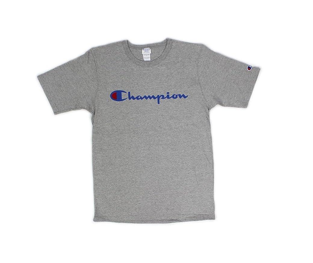 エコー湿気の多いデンマーク語【Champion / チャンピオン】 Patriotic Script Tee / 筆記体ロゴプリント Tee