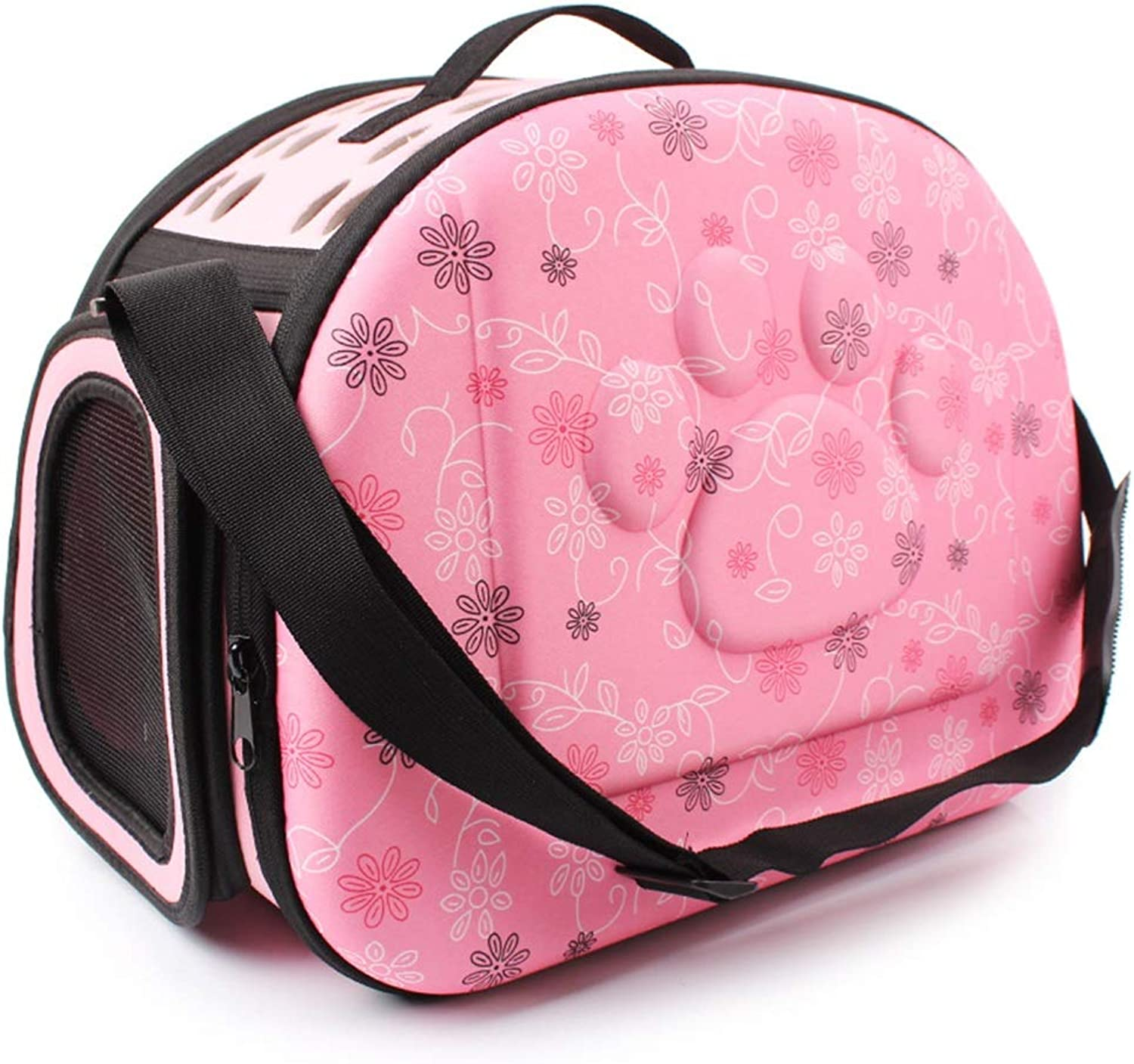 LXFLX Portable small dog bag EVA small pet out backpack Air pet dog kennel portable travel pet bag (color   Pink)