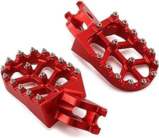 Motorcycle CNC Billet Foot Pegs FootPegs Pedals Rests For Honda CR125R CR250R CRF250R CRF250X CRF450R CRF450RX CRF450X CRF250L CRF250M CRF 250R 450R 250X 450X Motocross Dirt Bike(Red)