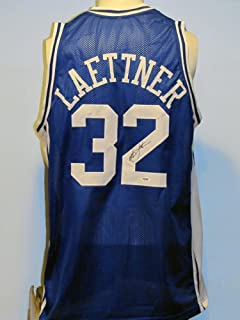 Christian Laettner Autographed Jersey - Custom - PSA/DNA Certified - Autographed College Jerseys