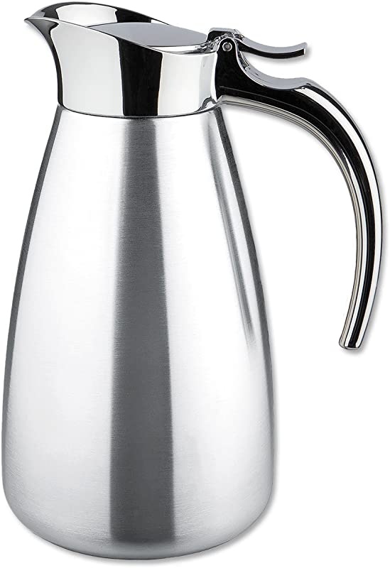 Isosteel Va 9344k 0 6 Liter 20 Oz Polished Stainless Steel Tableline Double Walled Vacuum Carafe